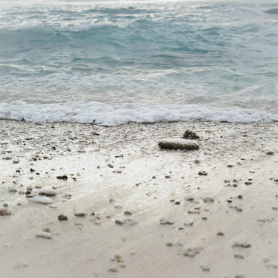 Sand Stone and Sea Bali Indonesia Photography