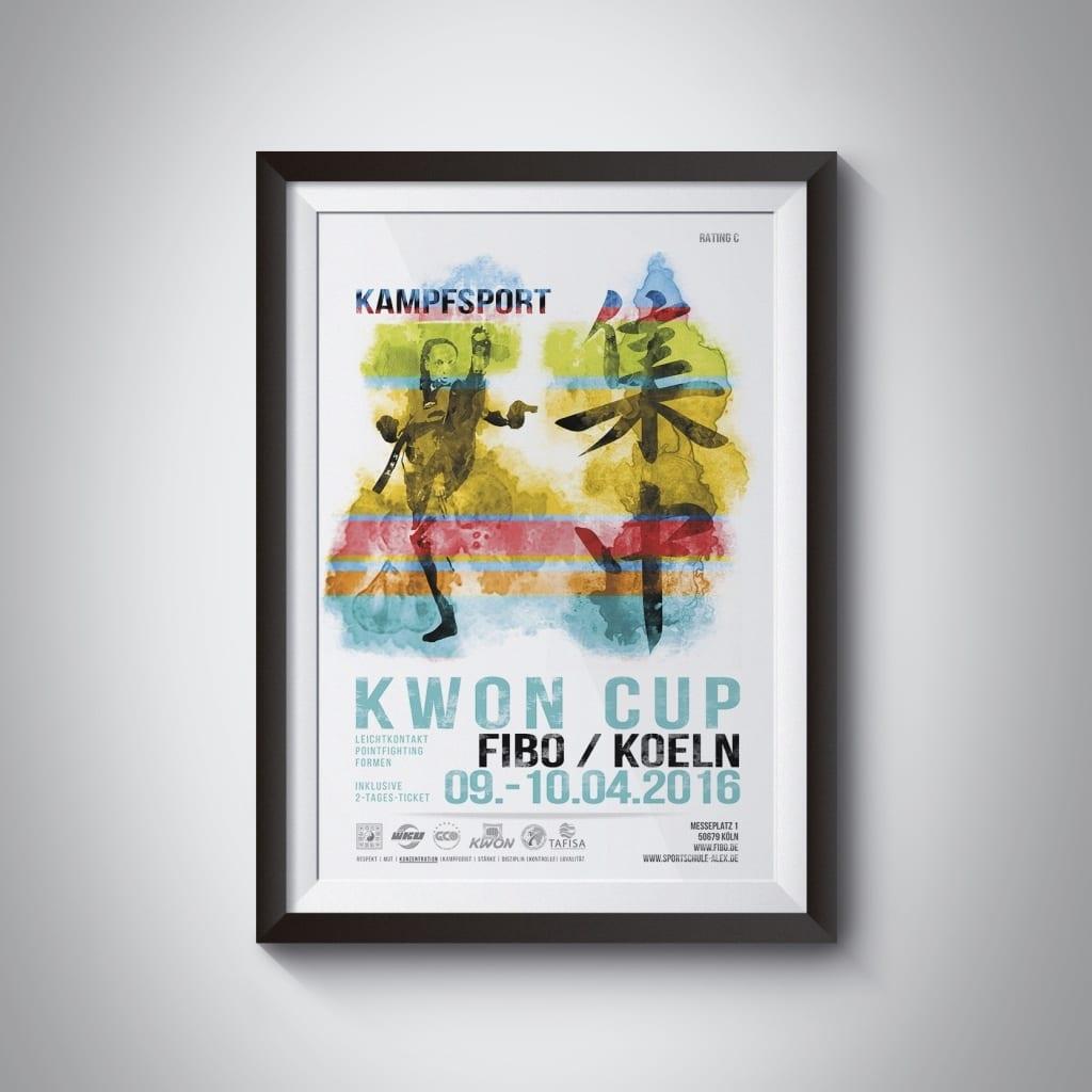 Plakat Print Kampagne WKU martial arts